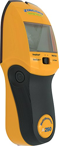 Zircon MultiScanner A250 Electronic Wall Scanner/Center Finding and Edge Finding Stud Finder/Metal Detector/Live AC Wire Detection and Scanning