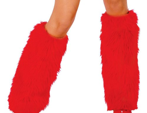 Roma Costume Women's Faux Fur Leg Warmer, Red, One Size -
