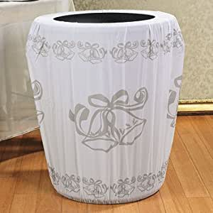 Wedding bell trash can cover wedding for Amazon wedding decorations