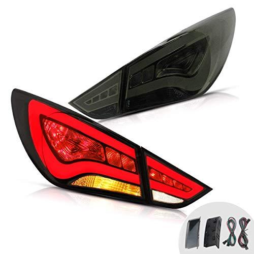 YUANZHENG LED Tail Lights for [Hyundai Sonata 6th Gen Sedan 2011 2012 2013 2014] Reverse Running Brake Turning Comprehensive Function YAB-SNT-0209A, Smoke