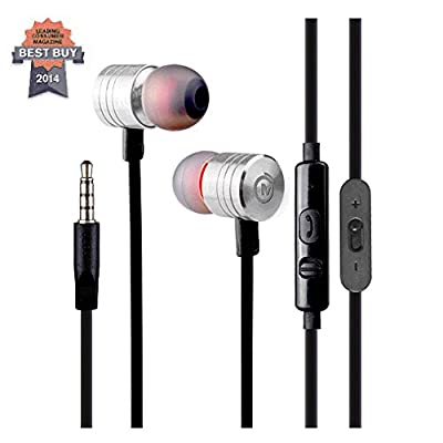 Mobityze Premium Earphones with Microphone and Remote Volume Control and Phone Answering-Excellent Sound Quality-Superbass-Noise Canceling-For Handsfree-Sports-Excercise-Music- Now with Bonus IPhone 6 Armband and Ebook