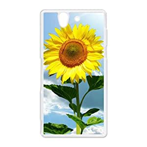 Generic Cell Phone Case For Sony Xperia Z case L36 Blooming Sunflower Pattern