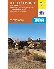 OS Explorer Map OL1 The Peak District: Dark Peak Area (OS Explorer)