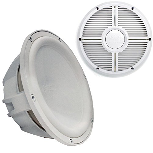 """Wet Sounds Revo 12"""" Subwoofer & Grill - White Subwoofer & Wh"""