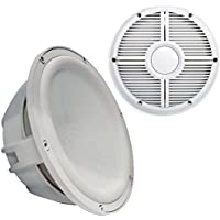 Wet Sounds Revo 12 Subwoofer & Grill - White Subwoofer & White Closed Face XW Grill - 2 Ohm