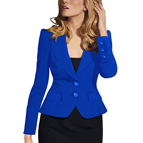 Price comparison product image HOPES KINGDOM Women's Fashion Long Sleeve Slim Fitted Ladies Office Blazer Suit Jacket