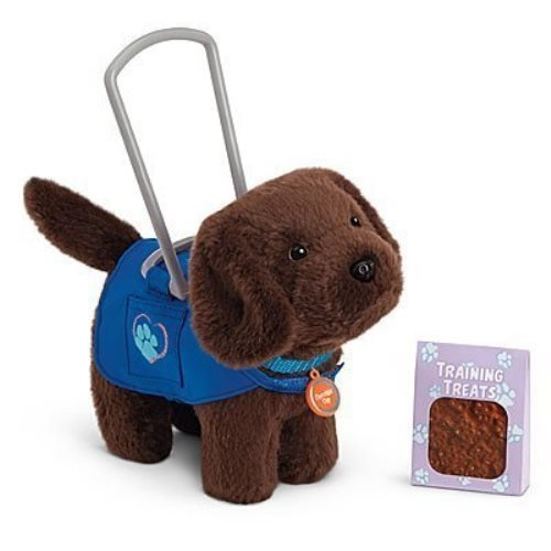My American Girl Service Dog Set, Chocolate Chip, Lab - Treats, Collar, Vest by American Girl