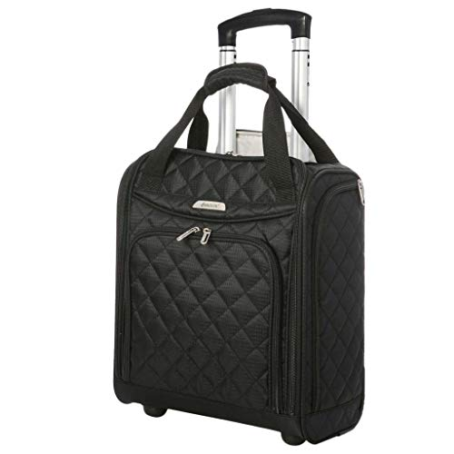 Airline Approved Underseat Carry On Personal Item Tote Bag Small Rolling  Luggage Wheeled Suitcase