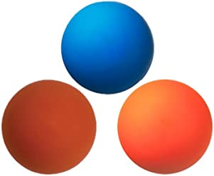 Red and Orange Yellow Three Assorted Color Lacrosse Balls Misc.
