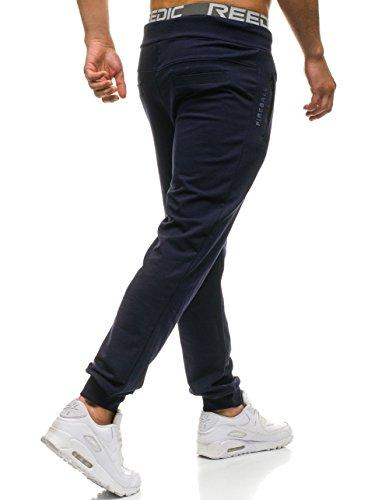 BOLF Hombre Pantalones Jogger Bolsillos Estilo Urbano Estampados 6F6 Motivo qgcnD