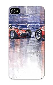 Guidepostee High Grade Flexible Tpu Case For Iphone 5/5s - Ferrari D50 Monaco Gp 1956( Best Gift Choice For Thanksgiving Day)