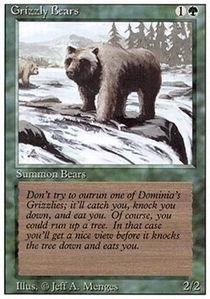 Magic: the Gathering - Grizzly Bears - Revised Edition
