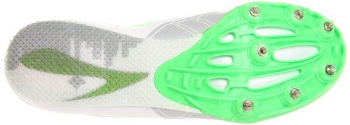 Brooks Pr Sprint W, Damen Sportschuhe - Running Weiß (White/Green)