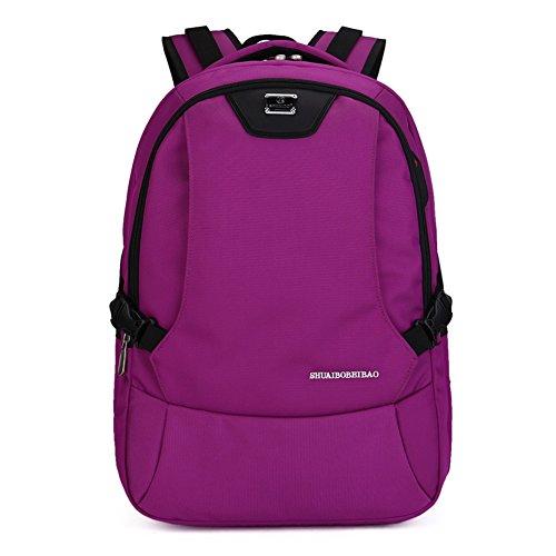 Sport Computer Travel Outdoor Backpack (Purple) - 7