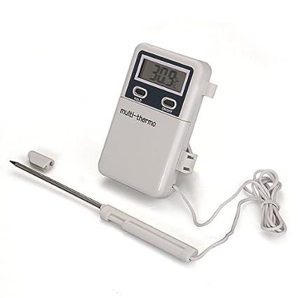 Sonline Termometro Digital Con Sonda De Metal De Cocina Para Comida Temperatura Alta