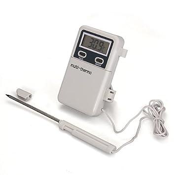 Termómetro Digital Con Sonda De Metal De Cocina Para Comida Temperatura Alta: Amazon.es: Electrónica