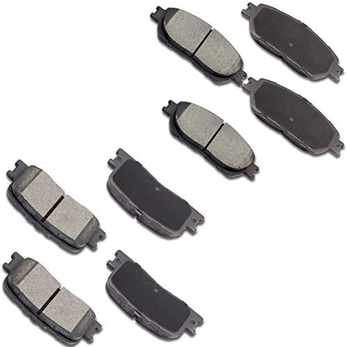 OCPTY Ceramic Brakes Pads, Quick Stop Front Rear Brake Pad fit for 2002 2003 Lexus ES300,2004 2005 2006 Lexus ES330,2005 2006 Toyota Camry