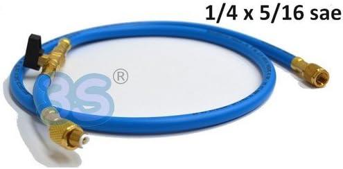 Kältemittel R407c Füllschlauch 1,5m 1//4 SAE 1//4 blau
