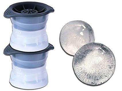 Moldes, Silicona Molde para Bolas de Hielo Esfera, Transparente/Gris, 10 x