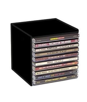 Cubo DE PLASTICO Negro para ARCHIVAR CD Y Doble CD/Ref.1470: Amazon.es: Electrónica