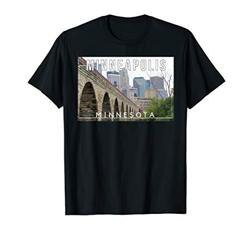 Minneapolis Minnesota Mississippi Mill City Skyline - Tee]()