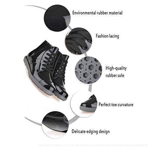 de a botas black cortas agua los chaqueta lluvia para agua Botas bajas de la mujer de para zapatos de ayudar SwIzqSd
