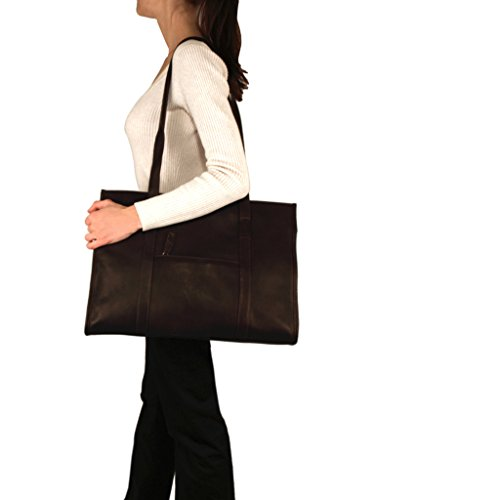 (Urban Tote Bag from Latico Leathers, 100 Percent Luxury Leather, Black)