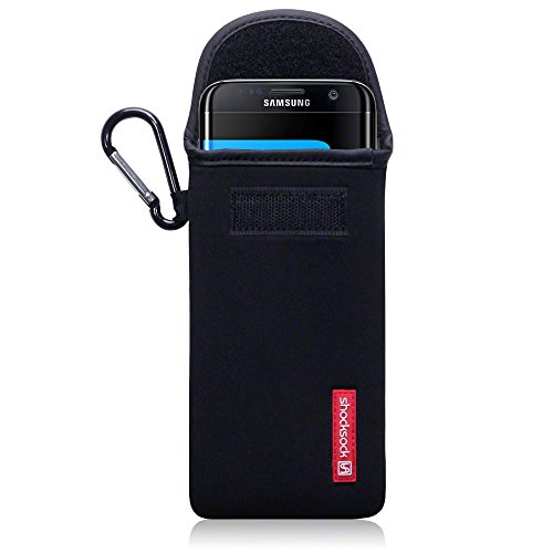 Black Neoprene Cell Phone Pouch - 9
