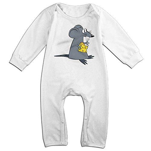 [VanillaBubble Rat Steal Cheese For 6-24 Months Newborn Cute T Shirt White Size 6 M] (Dwayne Johnson Baby Costume)