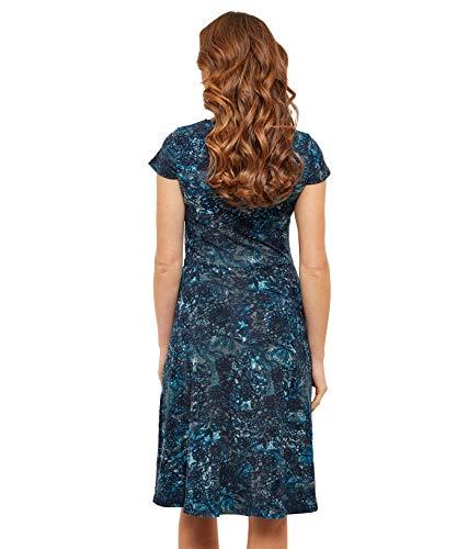 Jersey Flockprint Mehrfarbig Kleid Damen Browns Joe mit EqvpBqw