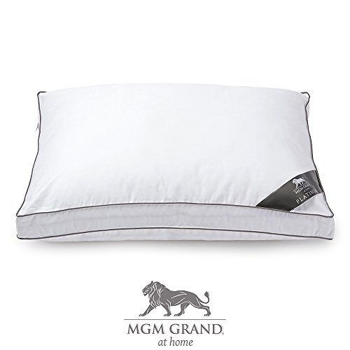 Mgm Grand At Home Platinum Collection Hotel Down Alternative Pillow 500 Thread Count   The Best Pillow For Back   Side Sleeping  2  Gusset   Official Mgm Grand Hotel Pillow  King