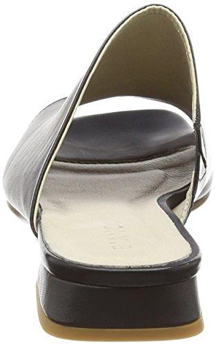 Noir Flat Mule 10 Bout Dress black Ouvert Femme Bianco qaSWxvwYda