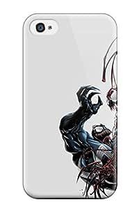 Excellent Design Venom And Carnage Spiderman Comics Anime Comics Phone Case For Iphone 4/4s Premium Tpu Case wangjiang maoyi