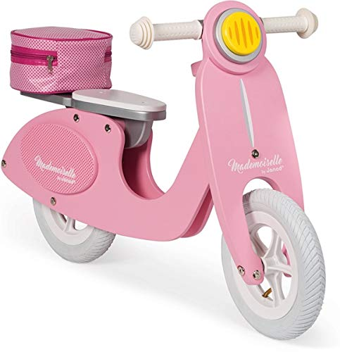 Janod Mademoiselle Pink Wooden Scooter Balance Bike, One Color