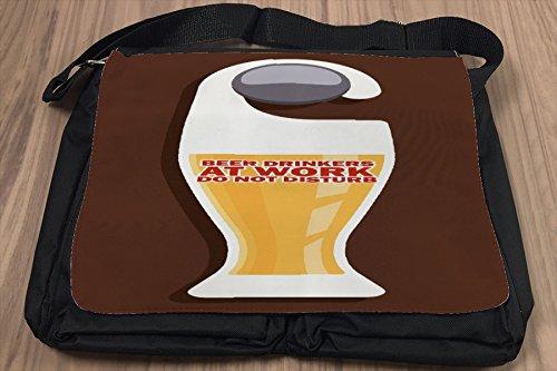 Borsa Tracolla Cucina Birra Birreria Lavoro bevitori Stampato