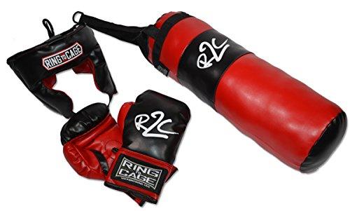Headgear Boxing Gloves (Youth Kids Boxing Training Bag Set Punching Bag Gloves Heavy Bag Bundle Kit)