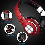 Cuffie-BluetoothHeadphones-Wireless-Pieghevole-Audio-Stereo-Hi-fi-Microfono-Incorporato-con-Jack-Audio-da-35-mm-Compatibili-con-IPhone-Samsung-Telefoni-e-Tablet-Android-Rosso