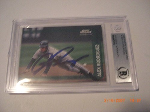Alex Rodriguez 1999 Sports Illustrated Auto Beckett Authentic Signed Card - Beckett Authentication - Autographed MLB Magazines
