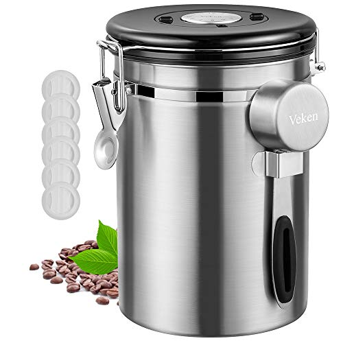 Veken Coffee Canister Stainless Container