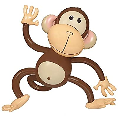 Rhode Island Novelty 27 Inch Monkey Inflates, Set of 6: Toys & Games