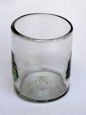 Mexican Blown Glass Tumblers Clear (Set of (Hand Blown Glass Tumbler)