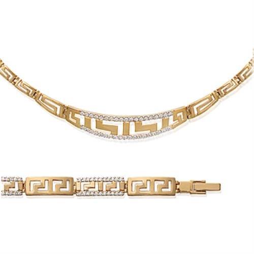 Bijouxlove - BRACELET Oxyde Plaqué Or Rhodié - 19cm