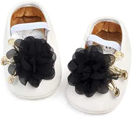 8a1246876 Newborn Infant Shoes Mary Jane Party Shoes Crib Shoes Cute Princess Flower  Soft Sole Firstwalkers Shoes