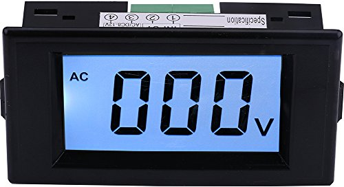 Yeeco AC 0-600V LCD Display Digital Voltmeter Volt Panel Meter Voltage Monitor Tester Gauge AC / DC8-12V Power Supply