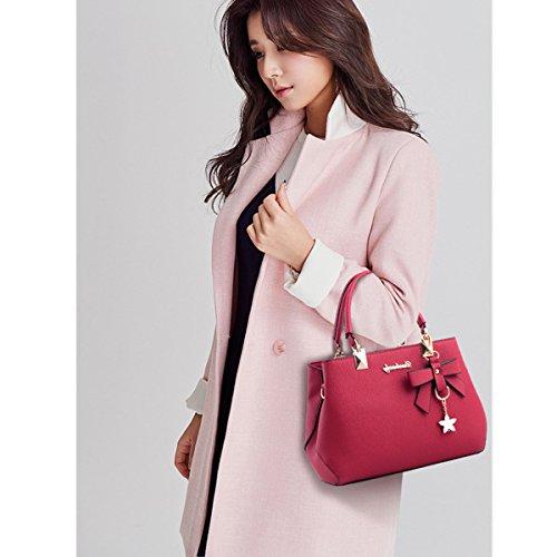 Para Mujer Rojo Rosa Bolso Vino rosa Ourbagwolzende1105 Cruzados Ourbag AqTtwET
