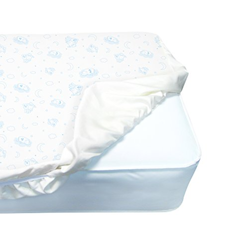 Serta Perfect Sleeper Deluxe Quilted Fitted Crib Mattress Pad, White