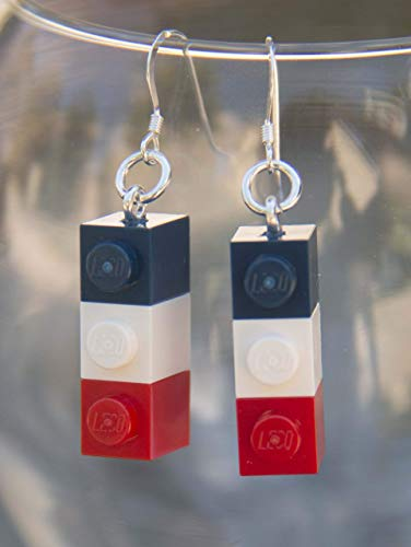 Ole Miss Earrings Rebels Jewelry STERLING SILVER Hooks for University of Mississippi Football Tailgating