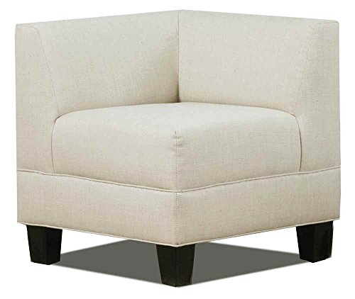 """Carolina Accents Makenzie Corner Chair, Graphite - Overall: 29. 5""""W x 29. 5""""D x 31""""H Available in: Natural, Light Ash and Graphite Covered in durable, easy-to-clean 100-percent polyester fabric - living-room-furniture, living-room, accent-chairs - 41OhvJzBWjL -"""