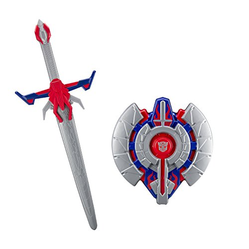 Transformers Optimus Prime The Last Knight Hasbro Movie Sword with Awesome Battle Sound Effects and Shield Battle Pack Ready to Defeat Megatron and His Decepticons]()