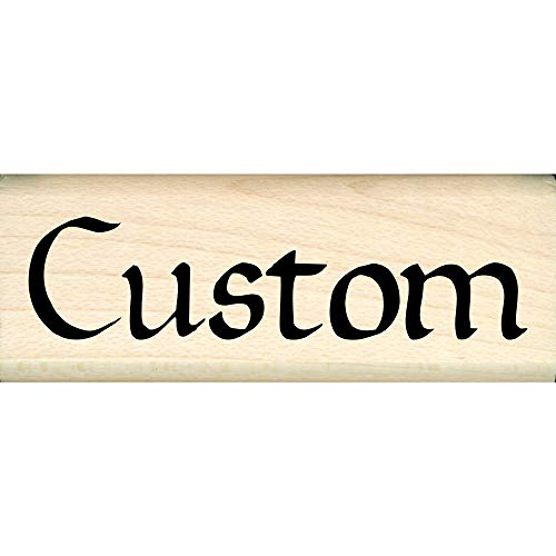 Stamps by Impression Custom Made Personalized Childrens or Teacher Name One Line Rubber Stamp - Choice of Font